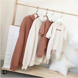 Matching Clothes Mom Son Australia - Family Matching Outfits Fashion Dad Mom Son Daughter Sweater Family Look T-shirt Hooded Sweater Pullover Top Bebe Romper Clothes Y190523