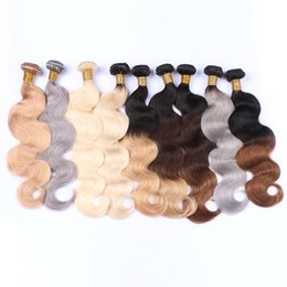 Hair extensions 27 613 online shopping - Body Wave Human Hair Bundles Brazilian Hair Weave Remy Hair Extensions B Grey