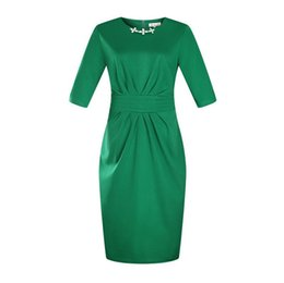 $enCountryForm.capitalKeyWord Australia - Summer Crew Neck Plus Size Dress Peplum Casual Pencil Skirt With Zipper Multicolor Optional Got Up Figure Dress