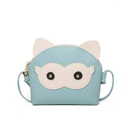 Mini Fabric Bags Australia - Adorable Fun Owl Shell Bag Children 2019 Fashion Cartoon Cute Panel Shoulder Handbags Women Mini Crossbody Bag for Little Girls