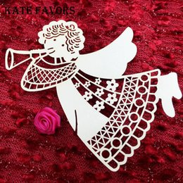 birthday wine glasses Australia - Place Card Angel Wine Glass Cup Card Wedding Name Cards Laser Cut Paper Birthday Party Decoration