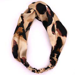Satin Silk Leopard Print Headband Girls Hairband High Quality Elastic Twist Turban  Head wrap Hair Accessories 88e9b1f0fec4