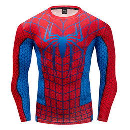 $enCountryForm.capitalKeyWord Australia - Spiderman T-shirts Cosplay T Shirt Long Sleeve Quick Dry Spider Gym Fitness Tshirts Men Compression Tops Crossfit Tee-shirt S-3XL Streetwear