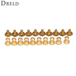 Bronze Purse Handbag Feet Nailhead Round Studs Solid Brass Screw Back Spike For Bags Modern Design Gun Black 50 Pcs/ Lot Gold Silver