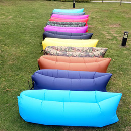 $enCountryForm.capitalKeyWord NZ - Wholesale Inflatable Sleeping Bags High Quality Candy Colourful 210D Water Proof Outdoor Portable Lazy Sofa Bed