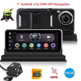 $enCountryForm.capitalKeyWord Australia - XGODY 7 inch Car Camera Android With Navigator GPS 512MB+16GB Rear View Mirror DVR Camera Recorder Wifi Dashcam Full HD 1080P car dvr