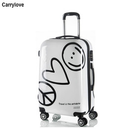 "24 inch bag Canada - CARRYLOVE 20"" 24"" inch cartoon travel trolley trunk children carry on trolley luggage bag for traveling"