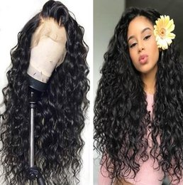 water waves human hair Australia - Glueless Lace Front Human Hair Wigs For Black Women Natural Hairline Brazilian Water Wave Full Lace Wigs 130% Density