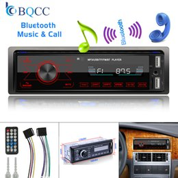 key mp3 player UK - 2V 1 Din Bluetooth Car Radio Audio Stereo MP3 Player 7 Color Light Touch Keys Support SD   FM   AUX USB
