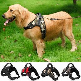 Wholesale 2019 Top Quality Dog Accessories Strong Harness Nylon Harness For Dog Trainning Walking Large Size Pets Supplier Free Shipping