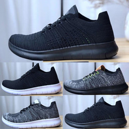 124599ffca552 2019 Best Free Run 5.0 Running Shoes For Men Women All Black White Designer  Sports Sneakers Fashion Breathable Cheap Trainers Shoes 36-45