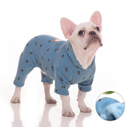 dogs winter jumpsuit Australia - Winter Soft Pet Clothes Autumn Pet Jumpsuit French Bulldog Dog Jacket Cotoon Dog Coat Jackets Clothes For Small Large Dogs Pug Whloesale