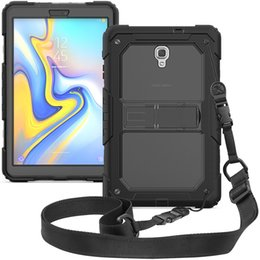 $enCountryForm.capitalKeyWord Australia - Impact Resistance Kids Safe Silicone + PC Hard Cover Case with Shoulder Strap for Samsung Galaxy Tab A 10.5 T590 T595 2018 Tablet+Pen