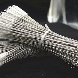 strips for glasses Australia - Wholesale Stainless Steel Straw Cleaning Brush Nylon Straw Cleaners Cleaning Brush For Drinking Pipe Stainless Steel Glass 200*50*10mm