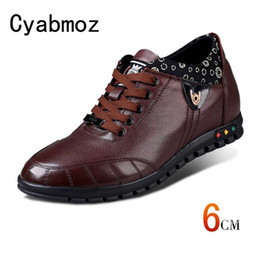 $enCountryForm.capitalKeyWord Australia - Men Height Increasing 6cm Casual Shoes Genuine Leather Breathable Sneakers With Invisible Elevator Insole Fashion Male Oxfords