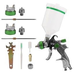 $enCountryForm.capitalKeyWord Australia - HVLP Stainless Steel Air Spray Machine Airbrush Kit Gravitational Force Feed Paint Sprayer 1.4mm 1.7mm 2.0mm Nozzle Car Painting