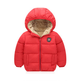 Hooded Winter Down Parkas Australia - good quality winter boys coats children boys cotton thicken down&parkas casual warm hooded sports jackets bebe plus velvet outerwear