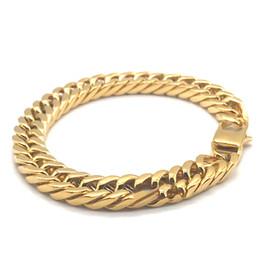 $enCountryForm.capitalKeyWord Australia - Hot Sale Designer Bracelet Gold Mens Bracelets Lobster Cuban Link Chains Luxury Bracelet Stainless Steel Fashio Jewelry Wholesale