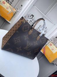 # 9654 5A L Marka V onthego Bez Çanta Kadınlar Çanta Moda Klasik Betrun Üst Kol Çanta Gerçek Deri Büyük Capacity Alışveriş Çantası M44576