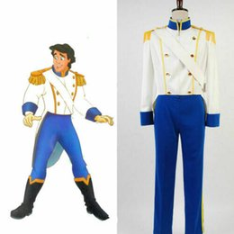 LittLe mermaid cospLay costume online shopping - Hot The Little Mermaid Prince Eric Cosplay Costume Attire Outfit Men Full Set