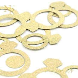 Diamond Gold Party Decorations Australia - Nicro 14g bag Gold Diamond Ring Confetti for Birthday Wedding Valentine Table Scatter Decor Party Decoration #Con11