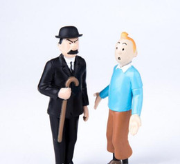 anime collectables figures Australia - Anime Figures Sets Toys Doll The Adventures of Tintin PVC Cartoon Action Figure Collectable Model Toy for Kids Gift DHL