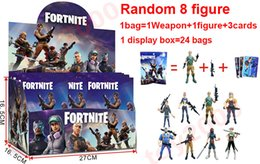 Kids boxing online shopping - 100types Action Figure Cartoon Fortnite Plastic Doll toys kids cm cm inch game llama skeleton role Child Toy with display box bags