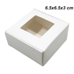 Craft Packs Australia - 6.5x6.5x3cm White Handmade Soap Kraft Paper Gifts Packing Box for Chocolate Cake Craft Paperboard Storage Box for Bakery Cake Cookie Package