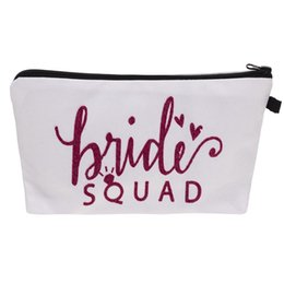 $enCountryForm.capitalKeyWord Australia - New Arrival Bride Squad Make Up Comestic Bags Unique Gift For Bridal Party Bags Purses Drop Shipping