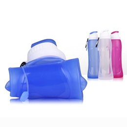 retractable water bottle Australia - Hot Folding Water Bottle Foldable Silicone Fold Outdoor Travel Collapsible Drinking Cup Portable Retractable Flask Sports Tool Drink