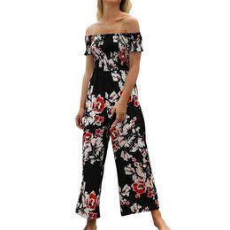 $enCountryForm.capitalKeyWord NZ - FREE OSTRICH Fashion comfortable tube top strapless shoulder print one-piece versatile trousers sports suit high waist jumpsuit