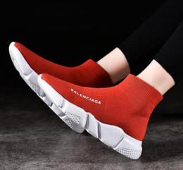 shoe sock sizes 2019 - AQ2 2019 Size 36-45 Designer Luxury Brand Sock Shoes Black Red Paris Slip-on High Top Men Women Casual Flat Shoes Sneake