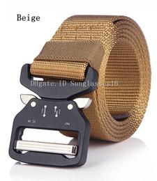 $enCountryForm.capitalKeyWord Australia - 49 Inch Men Belt Mens Designer Belts Ceinture Khaki Beige Colors Tactical Quick Release Nylon Buckle Alloy Outdoor Sports Waist Strap Belts