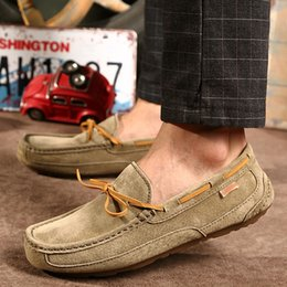 driving shoes NZ - 2019 Spring Summer Men Moccasin Loafers Casual Genuine Leather Driving Shoes Slip On Boat Shoes Moccasins For Man
