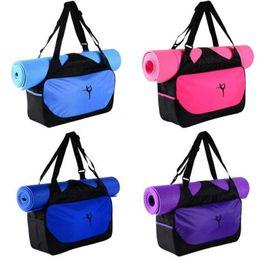 $enCountryForm.capitalKeyWord Australia - 9 Colors Fashion Outdoor Sports Backpack Tote Gym Yoga Mat Carry On Luggage Large Capacity Oxford Handbag Clothes Storage Bag