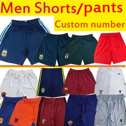 Argentina Lazio Italy Netherlands soccer shorts Rome pants Spain Belgium Portugal men's football shorts home away high quality on Sale