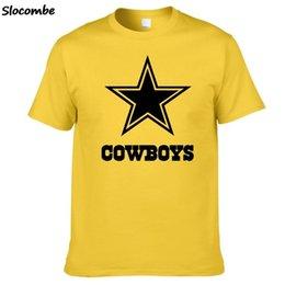 Venta al por mayor de 2019 hombres s ropa de diseñador camiseta de Alta Calidad de Moda de Verano Vaqueros Fans Camiseta Dallas Tees Logo Impresión de Imágenes Camisetas Clásicas