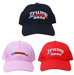 Black BaseBall caps online shopping - Fashion Trump Adjustable Baseball Cap Outdoor Creative Embroidery Sun Hat Unisex Travel Beach Couple Ball Cap TTA638