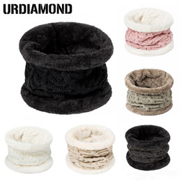 Wholesale Solid Cotton Scarves Australia - URDIAMOND 2018 New Unisex Winter Scarf Women Men Cotton Solid Knitted Ring Scarves Neck Ring Cute Warm High Quality