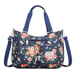 $enCountryForm.capitalKeyWord NZ - Nylon Messenger Crossbody Shoulder Bag Women Girls Flower Print Large Capacity Travel Bags