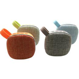 Range Audio Australia - Cloth Art outdoor speakers blutooth 9*9*4.5cm Wireless Portable Speaker Full-Range PVC Silicone Mini Car Speaker Radio