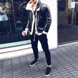 Wholesale leather sleeve woolen coat resale online - Winter Men Clothing Fashion Designer Coats Fur Woolen Thick Warm Turtleneck Leather Cashmere Fashion Jackets Apparel