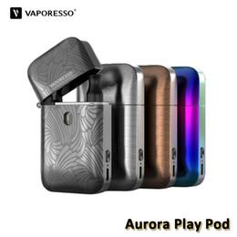 Design kit e online shopping - PROMOTION Vaporesso Aurora Play Pod Kit Built in mAh With ohm ml Pod Flip and Fill Cartridge Lighter Design E Cig Authentic