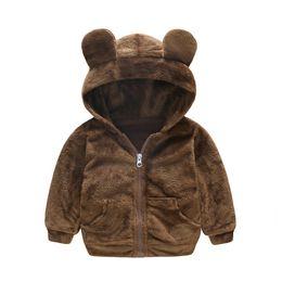 Children Animal Coats Australia - Winter Fashion Warm Animal Fleece Child Coat Cotton Liner Baby Girls Boys Jackets Children Outerwear For 1-4 Years Old