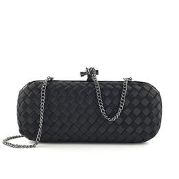 $enCountryForm.capitalKeyWord Australia - Stylish Luxury Women Clutch Bag Knitting Handbag Clutch Hard Party Purse Solid Female Weave Evening Bag 2019
