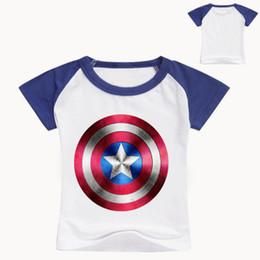 Unique Boy T Shirts NZ - Children Unique Marvel kids T Shirts Design Kids Top T Shirt Ringer gril T-shirts Captain tops