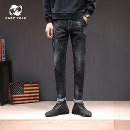New Slim Feet Jeans Australia - New autumn cotton men's jeans Korean version of the trend of men's elastic feet slim slimming jeans