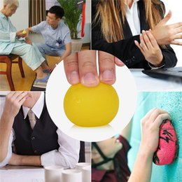 $enCountryForm.capitalKeyWord Australia - HOT SALES Silicone massage grip ball for finger hands strength exercise stress yellow, orange, red, blue, green