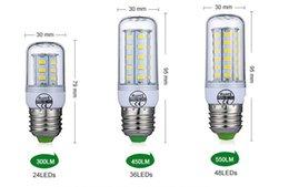 E27 E14 Lâmpada LED SMD5730 220 V Bulbo De Milho 24 36 48 56 69 72 LEDs Candelabro Vela Luz LED Para A Decoração Home Ampola venda por atacado