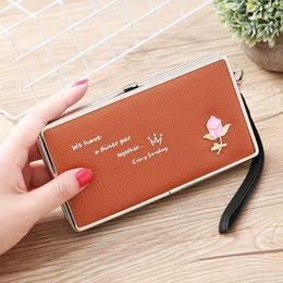 $enCountryForm.capitalKeyWord Australia - Japan And South Korea Long Wallet Cute Rose Lunch Box Wallet Women's Clutch Bag Mobile Phone Bag Purse